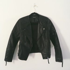 Jackets & Blazers - Topshop leather jacket